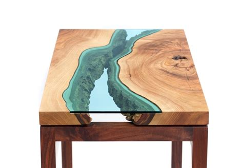 Handcrafted Tables - amazing handcrafted tables with rivers flowing through