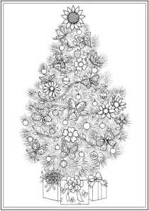 christmas tree coloring page for adults 14 best adult coloring pages christmas trees images on
