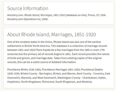 Marriage Records Rhode Island United States Finding 1879 Rhode Island Marriage Record