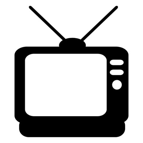Tv Outline Png by Television Flat Icon Transparent Png Svg Vector