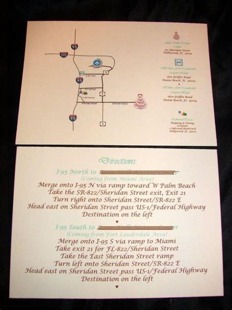 free wedding directions card template revi s the color for 2011 weddings a