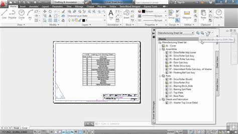 autocad tutorial sheet set using autocad sheet sets tutorial the sheet set manager