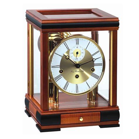 Clock Table by Hermle Bergamo C 22998 160352 Cherry Mantel Table Clock