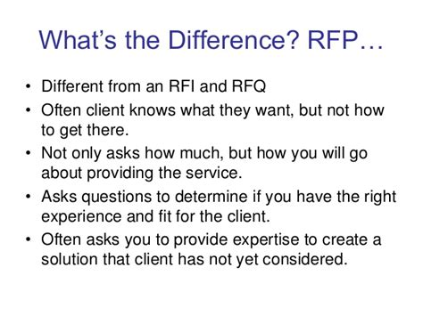 bid and win understanding the bid and rfp process to win contracts