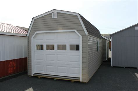 amish built  gambrel barn vinyl garage storage shed