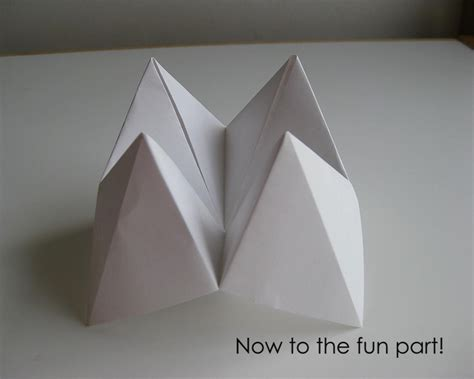 How To Make Fortune Teller Origami - my handmade home tutorial origami fortune teller