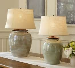 Pottery Barn Lamps Outlet Courtney Ceramic Table Lamp Base Blue Pottery Barn