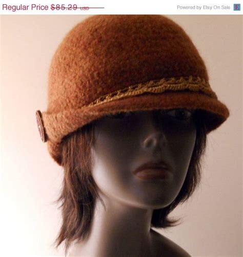 pattern for felt cloche hat christmas in july sale womens felted cloche hat by