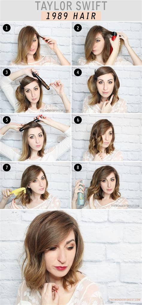Taylor Swift Short Hair Tutorial | taylor swift 1989 inspired hair tutorial wonder forest