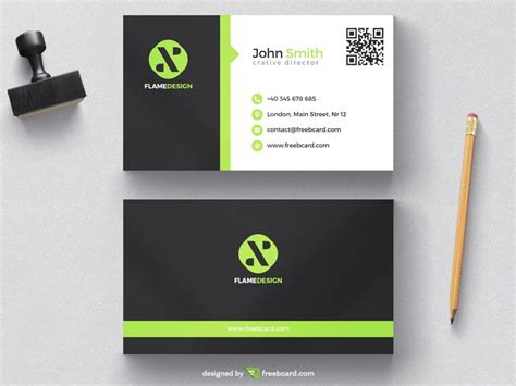 black and white business cards templates free green and black corporate business card template freebcard