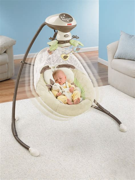 fisher price swing v0099 snugabunny cradle n swing best educational infant toys