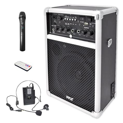 Kit Karaoke Multi Media Active Speaker Plus Subwoofer Bx6000 1 pylepro pwma170 home and office pa loudspeakers cabinet speakers sound and recording