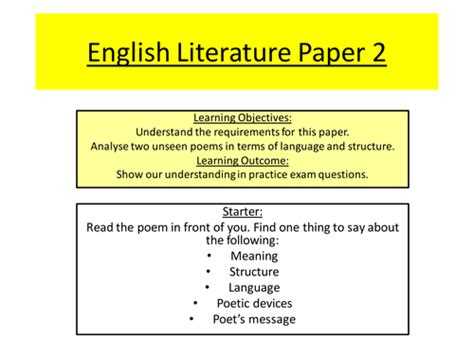 aqa literature paper 2 unseen poetry by jazziee93 teaching resources tes