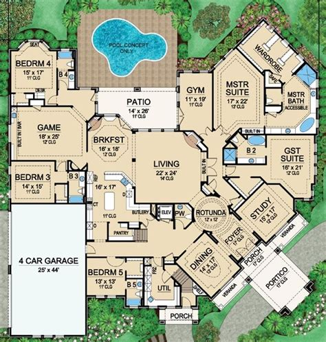 6 bedroom floor plans for house best 25 large house plans ideas on house