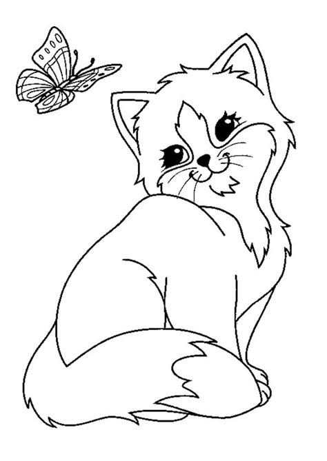 Picture Of A Cat To Color by Pictures To Colour Cats