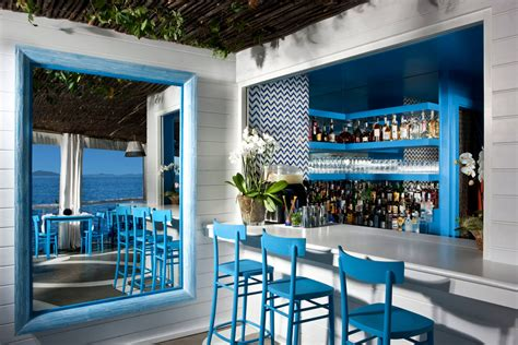 blue restaurant il riccio stylish waterfront restaurant in idesignarch interior design