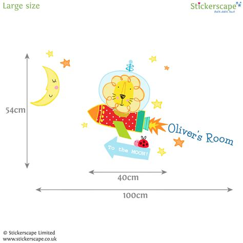 space wall stickers uk personalised in space wall sticker stickerscape uk