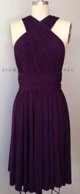 Infinity Convertible Dress Purple Grape Eggplant Infinity Dress Convertible