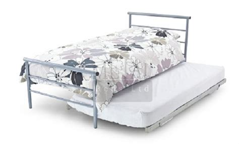 bed under bed metal beds guest underbed 3ft 90cm single silver bed