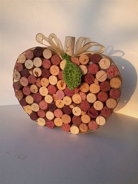 wine cork table decorations table decoration wine cork apple or pumpkin by