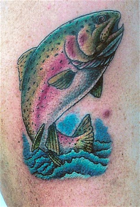 rainbow trout tattoo trout