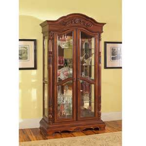 Curio Cabinets Solid Wood Curio Cabinets Solid Birch Wood Curio Cabinet In Rich