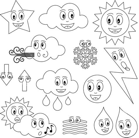 weather coloring pages preschool murderthestout