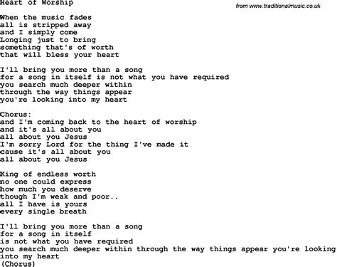 printable worship lyrics country southern and bluegrass gospel song heart of