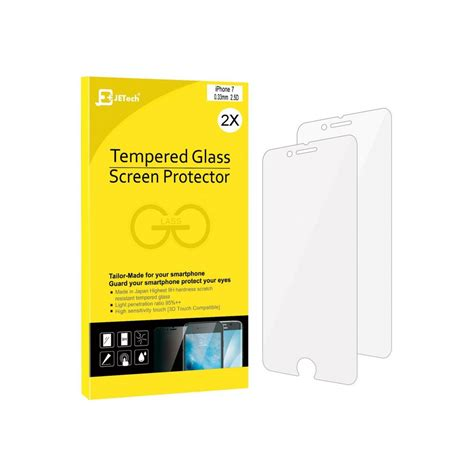 Iphone 7 Tempered Glass Screen Cover 2 jetech iphone 7 tempered glass screen protector 2 pack