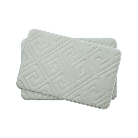 17x24 Bath Mat Bouncecomfort Caicos Light Gray 17 In X 24 In Memory Foam 2 Bath Mat Set Ymb003639 The