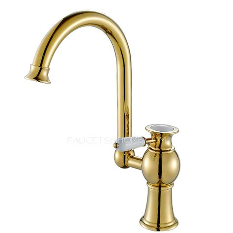 polished brass kitchen faucet antique polished brass radian handle kitchen faucet on sale