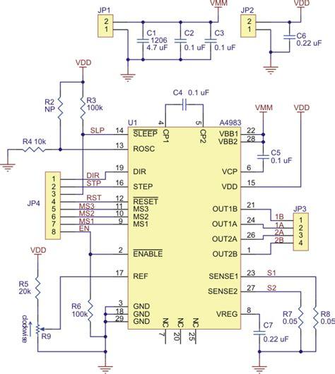 pololu a4983 stepper motor driver carrier