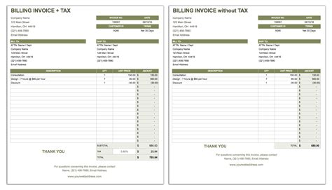 55 Free Invoice Templates Smartsheet Billing Template