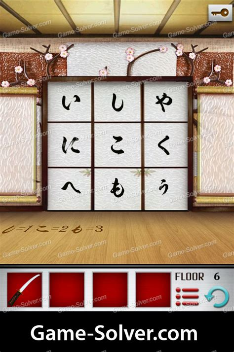100 Floors Level 10 by 100 Floors World Tour Japan Pack Level 6 Solver