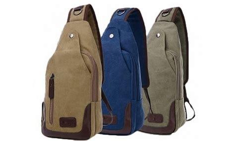 Slingbag Square Marine Onepiece canvas shoulder sling bag groupon