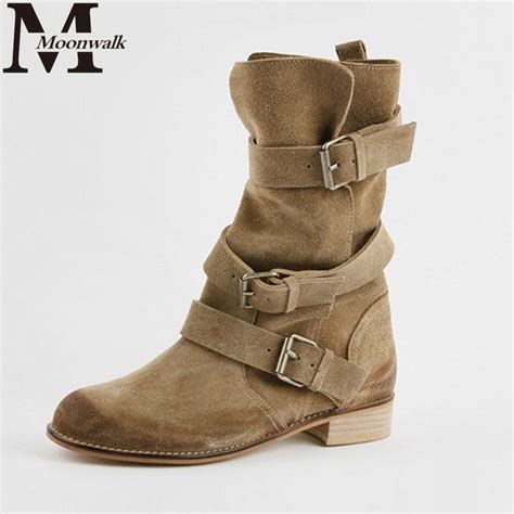 the ankle boots for motorcycle 2014 winter high quality buckle genuine leather