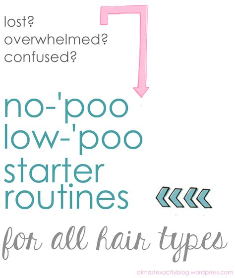 no poo no poo low poo routines for various hair types almost