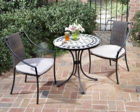 piece french bistro dining set: home styles  pc indoor outdoor bistro set includes marble bistro