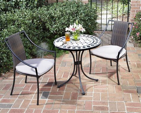 patio furniture bistro sets home styles 3 pc indoor outdoor bistro set includes