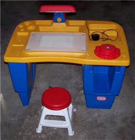 child size tikes table activity desk with light