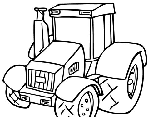 easy tractor coloring pages simple tractor coloring pages