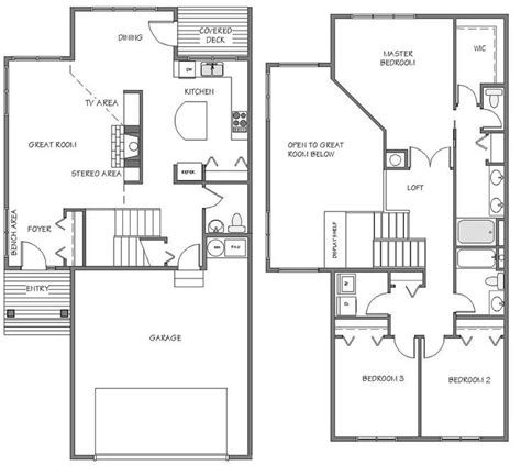 townhouse plans with garage townhouse plans with garage triplex house plan townhouse