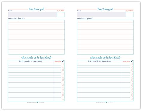 M A Term Sheet Template by Organize Your Goals By Writing Them Goal Setting