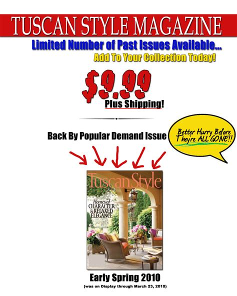 tuscan home decor magazine tuscan style decorating