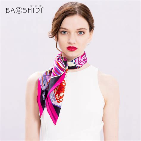 womens styles for large neck aliexpress com buy baoshidi 100 silk scarf women mini