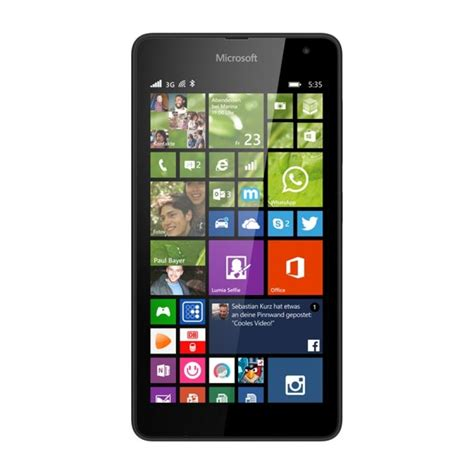 Hp Nokia Lumia 535 Detail microsoft lumia 535 black