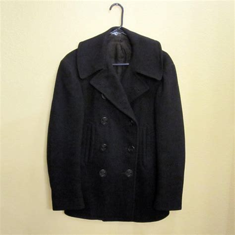 Jaket Pea Coat Navy Original U S A authentic vintage wwii u s navy pea coat