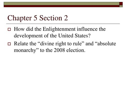chapter 5 section 2 ppt chapter 5 the enlightenment and american revolution
