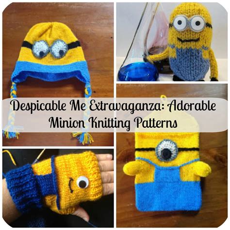 Sweater Minion 07 despicable me extravaganza adorable minion patterns allfreeknitting