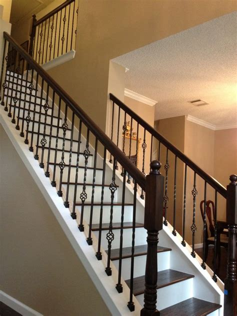 Banister Rail And Spindles by 15 Best Ideas About Wrought Iron Stairs On